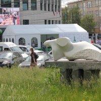 Скульптура, сквер,Блиц-турнир :: Наталья Золотых-Сибирская