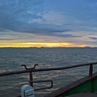 Восход на море, пейзаж :: Виктор Алеветдинов