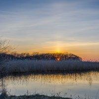 Закат над розливами. :: Владимир M