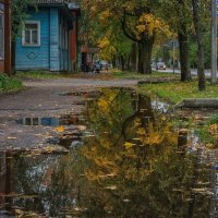 Октябрь, лужи. :: Евгений Иванов