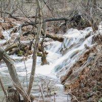 водопадик на речке Крепенькая :: Дина Горбачева