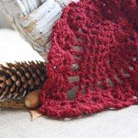 Бордовый шарф в осеннем колорите :: Елизавета Федотова