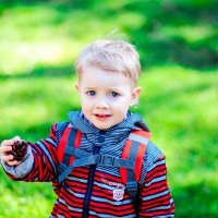 Мальчик с шишкой в парке :: Марина Алексеева