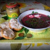 Борщейку с горчичкой и салом ! :: Мила Бовкун