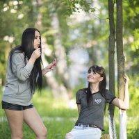 Девушка с мыльными пузырями :: Александр Метт