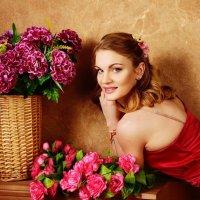 Фотосессия в цветочном стиле :: Oksanka Kraft