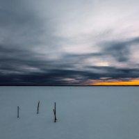 Закат над зимней рекой. :: Sven Rok