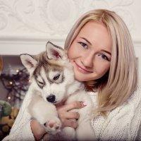 Девушка и хаски :: Юлия