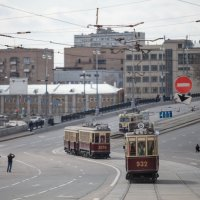 парад трамваев в Мск :: alex_belkin Алексей Белкин