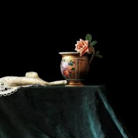 Старая  чашка с розой :: Валерия  Полещикова