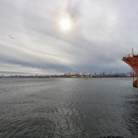 Зимний полдень в порту. :: Вахтанг Хантадзе