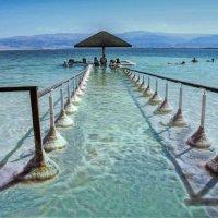 Соляная дорожка в Мёртвое море(вариант 2) :: Евгений Дубинский