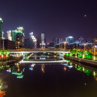 Молодая Луна над рекой Сучжоу :: Olga Lakeeva