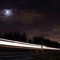 Ночь, луна, электричка :: андрей громов