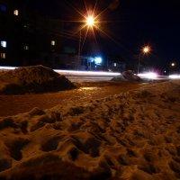 Пролетающие автомобили в ночи! :: Александр Маркин