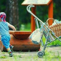 Сваливаем! Хозяин коляски идет! :: Николай Ефимов