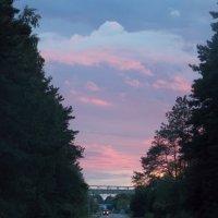 Закат над городом. :: Alla Kachuro