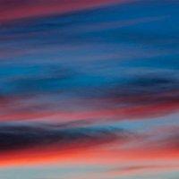 Панорама багровых облаков майского заката :: Анатолий Клепешнёв