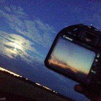 два неба ,отражение заката :: Тот-Самый Санек