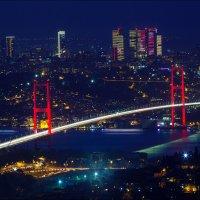 Босфорский мост в Стамбуле вечером :: Ирина Лепнёва