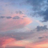 Акварельная палитра майского заката над Волгой :: Николай Белавин