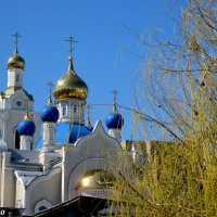 Купола храма Казанской иконы Божией Матери :: Нина Бутко