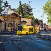 Метро-трамвай на улице старого города Стамбула :: Ирина Лепнёва