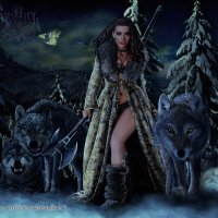 амазонка-королева волков :: николай дубовцев