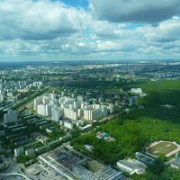 Московские просторы  с  высоты  в 337  метров  над  землёй... :: Galina Leskova