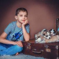 Мальчик с Хаски. :: Оксана Я