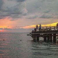Морской закат Сентябрь 2016 :: Юрий Клишин