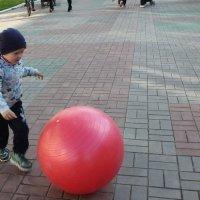 Малыш и мячик. :: Наталья Золотых-Сибирская