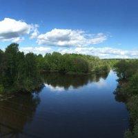 Мост, река и облака :: Светлана Моисеева