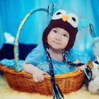 Малыш в корзине :: марина алексеева