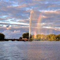 На озере Бинненальстер в Гамбурге :: Денис Кораблёв