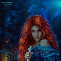 Лесная колдунья :: Malinka Art Galina Kazan