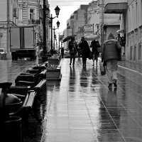 Промокшая улица :: Sergey Burlakov