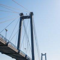 Вантовый пешеходный мост в Красноярске :: Ruslan