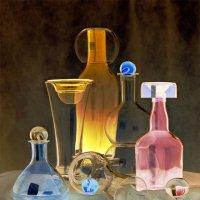 Натюрморт со стеклянными сосудами (crazy color version) :: Irina-77 Владимировна