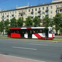 Трамвайчик на Московском проспекте Санкт-Петербурга :: Galina Belugina