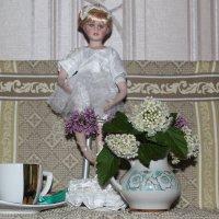 Натюрморт с отражением свечи. :: Наталья Золотых-Сибирская