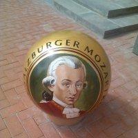 Шар с портретом Моцарта на Мюнстерской улице в Рязани :: Tarka