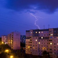 Гроза над городом :: Leonid Krasnov
