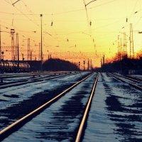 Закат. Немного зимы. :: Алексей Лебедев