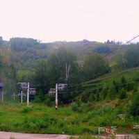 Подъёмник на лыжном курорте в Абзаково. Республика Башкортостан. :: Евгения Тузова