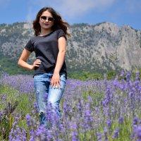 Лавандовое поле в горах :: Наталья Базанова