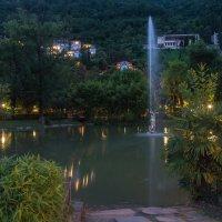 Вечерний парк в Гаграх. :: Виктор Евстратов