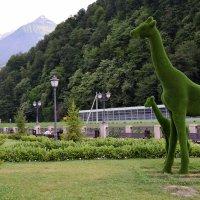 Жирафы в горах. :: Светлана Исаева
