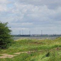 С берега залива открывается вид на Калининград :: Маргарита Батырева