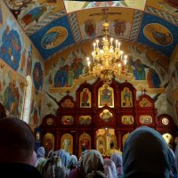 Служба в храме Петра и Павла. :: Антонина Гугаева
